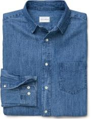 Indigo Denim Shirt Semi Light Blue