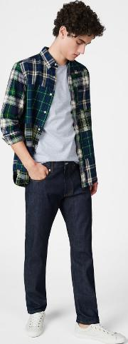Loose Fit Selvedge Jeans Dark Blue Raw