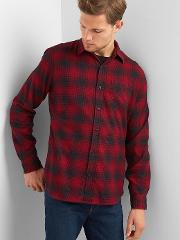 Flannel Standard Fit Shirt Tomato