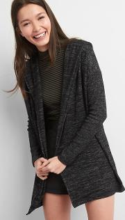 Softspun Hoodie Cardigan True Black