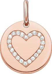 Love Coins Gold Plated Heart Disc Pendant Lbpe0005 416 14