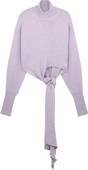 Lilac High Neck Knitted Jumper