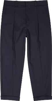 Pierre Navy Stretch Cotton Trousers