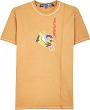 A Cold Wall Apricot Printed Cotton T Shirt