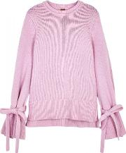 Pink Wool And Cashmere Blend Jumper