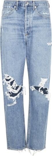 90's Distressed Straight Leg Jeans