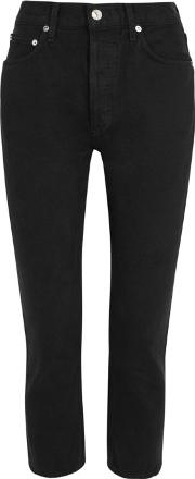 Riley Black Cropped Jeans