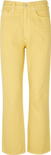Yellow Kick Flare Jeans