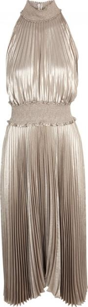 A.l.c. Kravitz Pleated Lame Dress