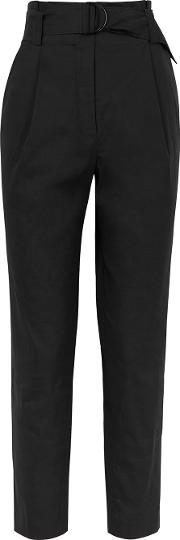 Diego Black Linen Blend Trousers