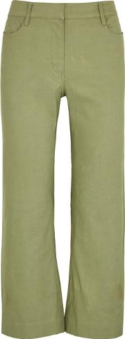 Teddy Army Green Straight Leg Trousers