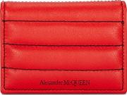Red Quilted Leather Card Holder