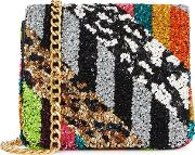 Alice Olivia Faye Sequin Embellished Shoulder Bag