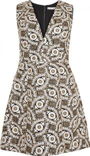 Alice Olivia Patty Embroidered Mini Dress Size 8