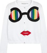 Alice Olivia Ruthy Stace Face Cropped Cardigan