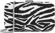 Alice Olivia Shirley Monochrome Beaded Clutch