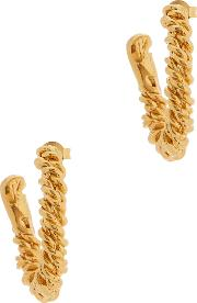 The Woven History 24kt Gold Plated Hoop Earrings