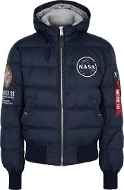 Apollo 11 Navy Quilted Shell Jacket