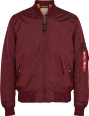 Ma1 Tt Burgundy Shell Bomber Jacket
