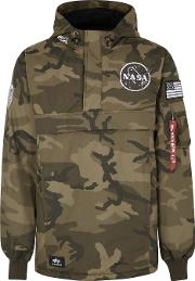 Nasa Camouflage Print Shell Jacket