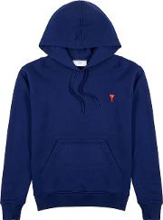 Logo Embroidered Hooded Cotton Sweatshirt