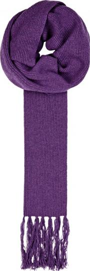 Violet Chunky Knit Wool Scarf