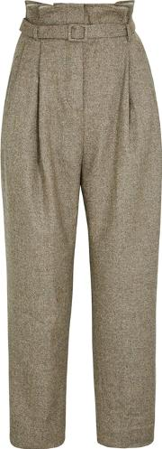 Tweed Tapered Leg Trousers