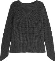 Charcoal Ribbed Merino Wool Jumper
