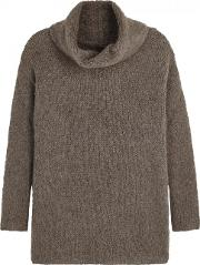 Trim Chunky Knit Mohair Blend Jumper