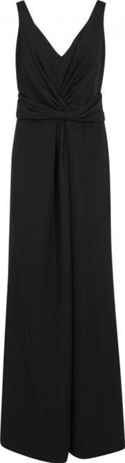 Black Ruched Gown Size 12