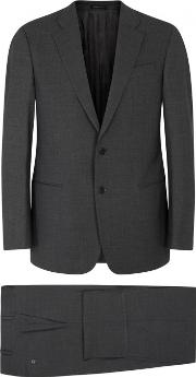 G Line Charcoal Stretch Wool Suit