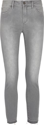 Carly Grey Cropped Skinny Jeans