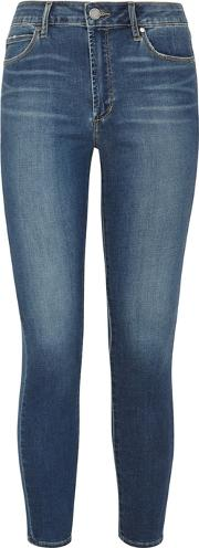Heather Blue High Rise Skinny Jeans