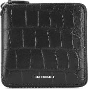 Crocodile Effect Leather Wallet