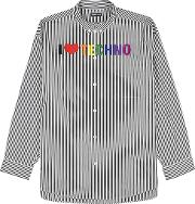 Striped Embroidered Cotton Shirt