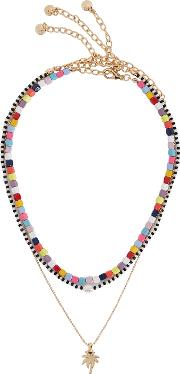 Alleria Beaded And Gold Plated Necklaces
