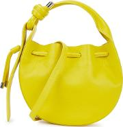 Ina Chartreuse Leather Cross Body Bag