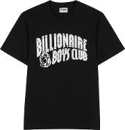 Black Logo Print Cotton T Shirt
