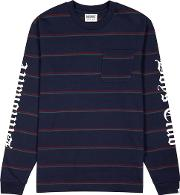 Navy Striped Cotton Top
