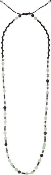 Beaded Jade And Onyx Necklace