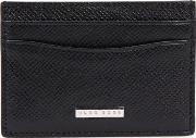 Signature S Black Leather Card Holder