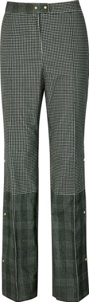 Gurli Check Panelled Cotton Trousers
