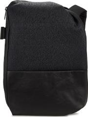 Isar Black Neoprene And Faux Leather Backpack