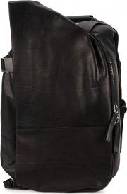 Isar Medium Leather And Canvas Backpack