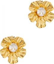 Isa Crystal Embellished Clip On Earrings