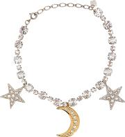 Stella Crystal Embellished Stars And Moon Necklace