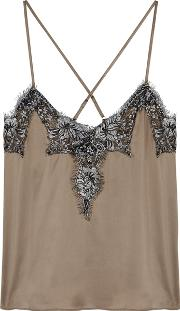 The Giselle Lace Trimmed Silk Top