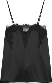 The Sweetheart Black Silk Charmeuse Top