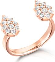 14ct Rose Gold Stella Double Pear Ring