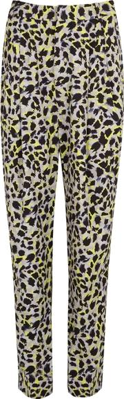 Leopard Print Tapered Trousers